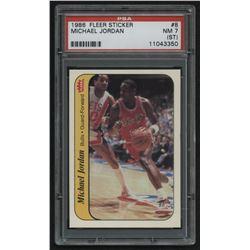 1986-87 Fleer Sticker #8 Michael Jordan RC (PSA 7) (ST)