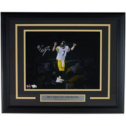Ben Roethlisberger Signed Pittsburgh Steelers 16x20 Custom Framed Photo Display (Fanatics Hologram)