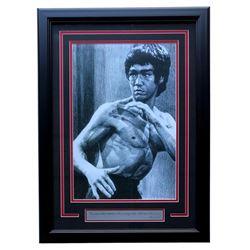 """Bruce Lee"" 19x21 Custom Framed Photo Display"
