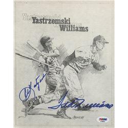 Ted Williams  Carl Yastrzemski Signed Boston Red Sox 8x10 Print (PSA LOA)