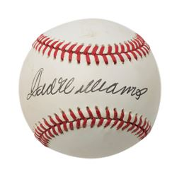 Ted Williams Signed OAL Baseball with Display Case (Beckett LOA)