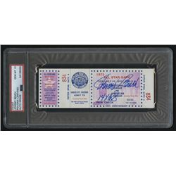 """Johnny Bench Signed 1973 All-Star Game Ticket Inscribed """"14x AS"""" (PSA Encapsulated)"""
