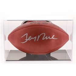 Jerry Rice Signed Official NFL Game Ball with Display Case (JSA COA)