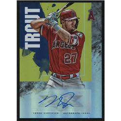 2019 Topps Fire Autographs #FAMT Mike Trout