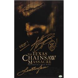 "Andrew Bryniarski Signed ""The Texas Chainsaw Massacre"" 11x17 Photo Inscribed ""Leatherface""  ""...Next"