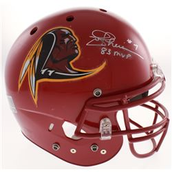 "Joe Theismann Signed Washington Redskins Full-Size Authentic On-Field Helmet Inscribed ""83 MVP"" (JSA"