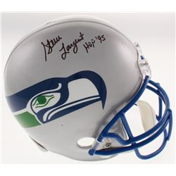 "Steve Largent Signed Seattle Seahawks Full-Size Helmet Inscribed ""HOF '95"" (JSA COA)"