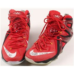"Hassan Whiteside Signed Pair of Game-Used Nike Basketball Shoes Inscribed ""Game Used"" (Hollywood Col"