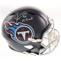 "Jevon Kearse Signed Tennessee Titans Full-Size Speed Helmet Inscribed ""The Freak!"" (JSA COA)"