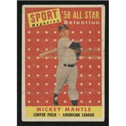 1958 Topps #487 Mickey Mantle All-Star TP