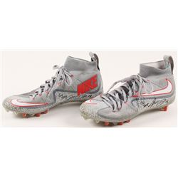 "Jarvis Landry Signed Pair of Game-Used Nike Cleats Inscribed ""GU 2015"" (Hollywood Collectibles COA)"