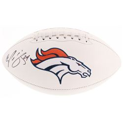 Champ Bailey Signed Denver Broncos Logo Football (Beckett COA)