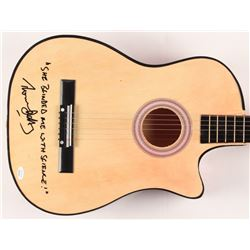"""Thomas Dolby Signed 38"""" Acoustic Guitar Inscribed """"She Blinded Me with Science!"""" (JSA COA)"""