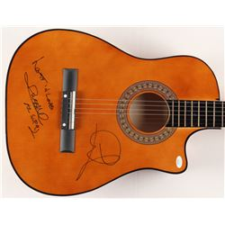 """Air Supply Russell Hitchcock  Graham Russell Signed 38"""" Acoustic Guitar Inscribed """"Lost in Love""""  """"A"""