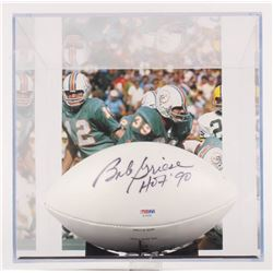 """Bob Griese Signed Mini Football with Display Case Inscribed """"HOF '90"""" (PSA COA)"""