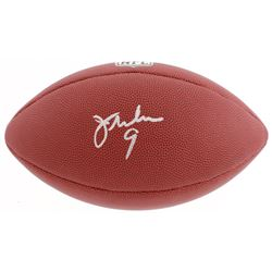 Jim McMahon Signed NFL Football (Schwartz COA)