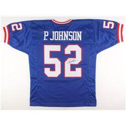 Pepper Johnson Signed Jersey (JSA COA)