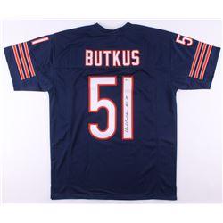 """Dick Butkus Signed Jersey Inscribed """"HOF '79"""" (Beckett COA)"""