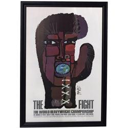 "Original Muhammad Ali vs Joe Frazier ""The Fight of The Century"" 34x49 Custom Framed Fight Poster Dis"