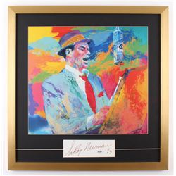 "LeRoy Neiman Signed ""Frank Sinatra"" 23.5x24 Custom Framed Cut Display Inscribed ""'83"" (PSA COA)"