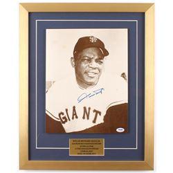 Willie Mays Signed San Francisco Giants 17x21 Custom Framed Photo Display (PSA COA)