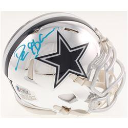 Deion Sanders Signed Dallas Cowboys Chrome Mini Speed Helmet (Beckett COA)