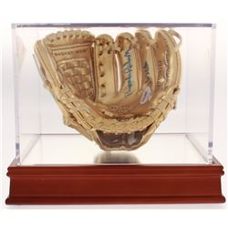 """Brooks Robinson Signed Rawlings Mini Gold Baseball Glove Inscribed """"16x GG"""" with Display Case (PSA C"""