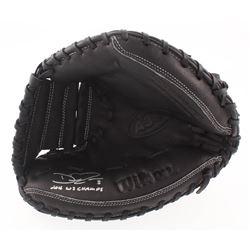 "David Ross Signed Wilson Model A360 Baseball Glove Inscribed ""2016 WS Champs"" (Schwartz COA)"