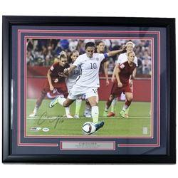 Carli Lloyd Signed Team USA 22x27 Custom Framed Photo Display (PSA COA)