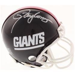 Lawrence Taylor Signed New York Giants Mini Helmet (Schwartz COA)