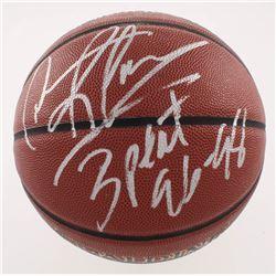 "Dennis Rodman Signed NBA Basketball Inscribed ""3 Peat 96-98"" (Schwartz COA)"
