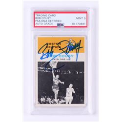 Bob Cousy Signed 1961-62 Fleer #49 In Action (PSA Encapsulated)