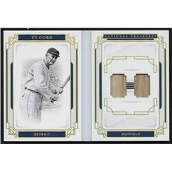 2019 Panini National Treasures Legends Materials Booklets #6 Ty Cobb #2/25