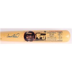 Frank Robinson Signed LE Cooperstown Bat Company Career Highlight Stat Baseball Bat (Cooperstown Bat
