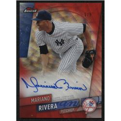 2019 Finest Autographs Red Refractors #FAMR Mariano Rivera #5/5