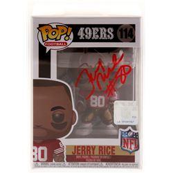 Jerry Rice Signed San Francisco 49ers #114 Funko Pop! Vinyl Figure (Beckett COA)