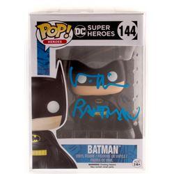 """Val Kilmer Signed """"DC Comics: Super Heroes"""" Batman #144 Funko Pop! Vinyl Figure Inscribed """"Batman"""" ("""