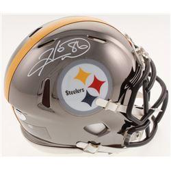 Hines Ward Signed Pittsburgh Steelers Chrome Speed Mini Helmet (Schwartz COA)