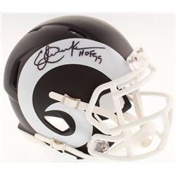 "Eric Dickerson Signed Los Angeles Rams Matte Black Mini Speed Helmet Inscribed ""HOF 99"" (Schwartz CO"
