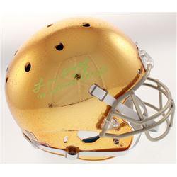 "Lou Holtz Signed Notre Dame Fighting Irish Full-Size Helmet Inscribed "" '88 National Champs"" (JSA Ho"