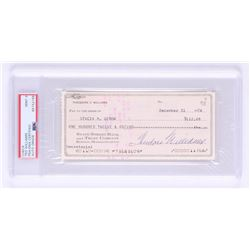 Ted Williams Signed 1974 Personal Bank Check (PSA Encapsulated)