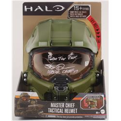 """Steve Downes Signed """"Halo"""" Master Chief Full-Size Helmet Inscribed Finish the Fight""""  """"Master Chief"""