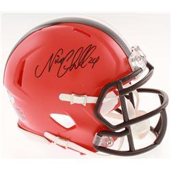 Nick Chubb Signed Cleveland Browns Speed Mini Helmet (Schwartz COA)
