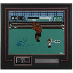 """Mike Tyson Signed """"Punch-Out!!"""" 24x26 Custom Framed Photo Display with Nintendo Controller (JSA COA)"""