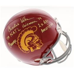 """Charles White Signed USC Trojans Full-Size Helmet Inscribed """"'78 NAT'L Champs"""", """"Heisman '79""""  """"2x A"""