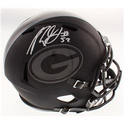 Rashan Gary Signed Green Bay Packers Full-Size Matte Black Speed Helmet (Beckett COA)