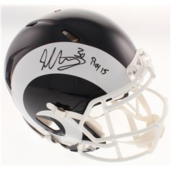"""Todd Gurley Signed Los Angeles Rams Full-Size Authentic On-Field Speed Helmet Inscribed """"ROY 15"""" (Ra"""