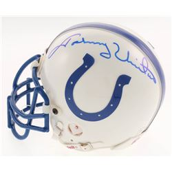 Johnny Unitas Signed Indianapolis Colts Mini Helmet (Beckett LOA)