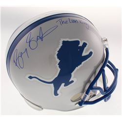 "Barry Sanders Signed Detroit Lions Full-Size Throwback Helmet Inscribed ""The Lion King"" (Schwartz CO"