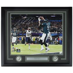 Nick Foles Signed Philadlephia Eagles 22x27 Custom Framed Photo Display (Fanatics Hologram)
